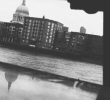 London Black & White Sticker