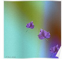 Purple Ivy-Nature in Abstract Poster