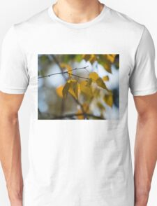 Dreamy Yellow Leaves Swaying in the Wind  T-Shirt