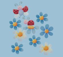 Flowers and ladybugs Baby Tee