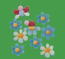 Flowers and ladybugs Baby Tee