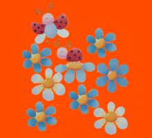 Flowers and ladybugs Kids Tee