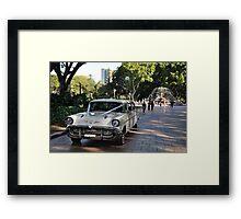 1957 Chevrolet Limousine, Hyde Park, Sydney, Australia 2012 Framed Print