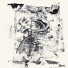 Monkey Dream #2 - Series of 5 Monotypes - by Pascale Baud