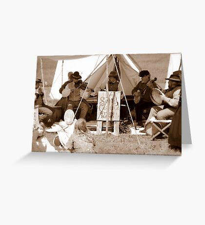 Band Civil War Style Greeting Card