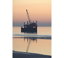 Crane Silhouette Photographic Print