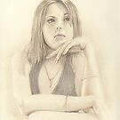 """Emma"" Colour Pencil Art Work by John D Moulton"