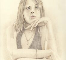 """Emma"" Colour Pencil Art Work by John D Moulton"