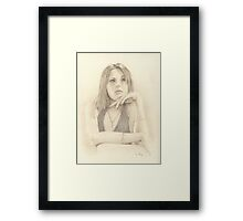 """Emma"" Colour Pencil Art Work Framed Print"