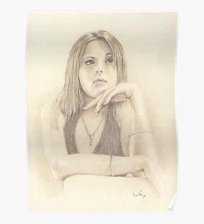 """Emma"" Colour Pencil Art Work Poster"