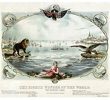The Eighth wonder of the world Vintage Poster 1866 Restored Photographic Print