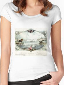 The Eighth wonder of the world Vintage Poster 1866 Restored Women's Fitted Scoop T-Shirt