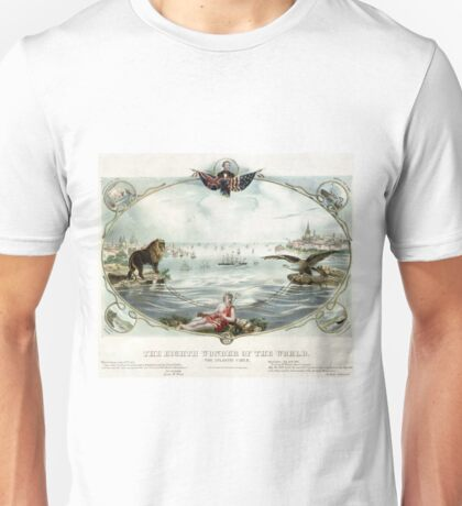 The Eighth wonder of the world Vintage Poster 1866 Restored Unisex T-Shirt