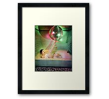 Disco Bubbles Framed Print