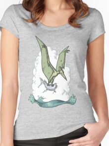 Green Pterodactyl Women's Fitted Scoop T-Shirt