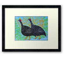 Guineas Blue Framed Print