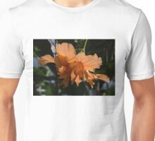 Glowing Orange Hibiscus Unisex T-Shirt