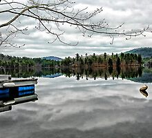 Reflections - Kezar Lake ... Lovell, Maine by T.J. Martin