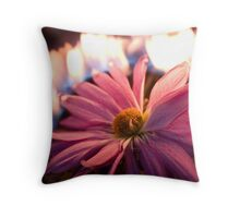 Flower in Flames Throw Pillow