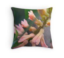 Peach Hyacinth Throw Pillow