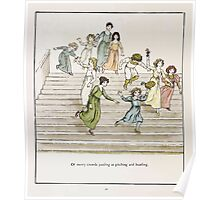 The Pied Piper of Hamlin Robert Browning art Kate Greenaway 0033 Children in Crowds Poster