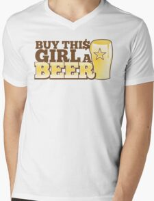 Buy this GIRL a BEER! with $ Mens V-Neck T-Shirt