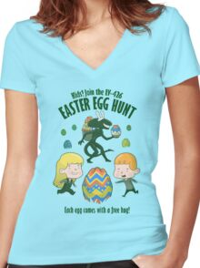 A Xenomorph Easter Special Women's Fitted V-Neck T-Shirt