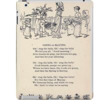 Miniature Under the Window Pictures & Rhymes for Children Kate Greenaway 1880 0025 Going a Maying iPad Case/Skin