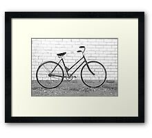 Another Vintage Bicycle.... Framed Print