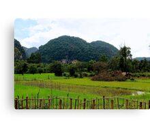 The Green Backcountry - Thakhek, Laos. Canvas Print