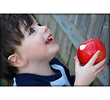 An apple a day...keeps the doctor away.... Photographic Print