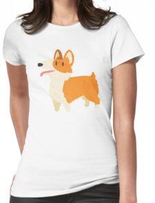 Cute Fluffy Corgi Dog Womens Fitted T-Shirt
