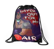Watch out for my B air  Drawstring Bag