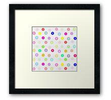 Girly Bright Pastel Rainbow Watercolor Polka Dots Framed Print