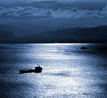 Harbour by moonlight - Wellington, New Zealand by graphicscapes