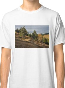 Fenced In Warm Autumn Light Classic T-Shirt