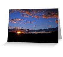 Sunrise At Cedar Creek, Brisbane, Queensland, Australia. Greeting Card