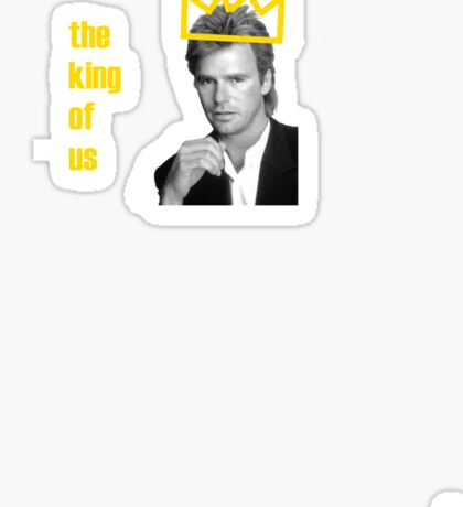 macgyver is the king of us Sticker