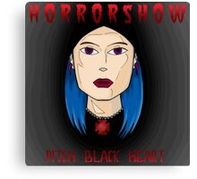 HORRORSHOW:PITCH BLACK HEART Canvas Print