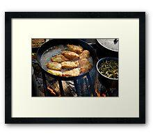 Dinner Reenactment Style Framed Print