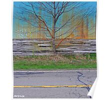 Country Road Steel sky Poster