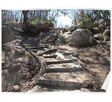 Autumn Climb to Flinders Peak in You Yangs Poster