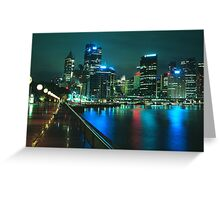 City night skyline - Sydney, Australia Greeting Card