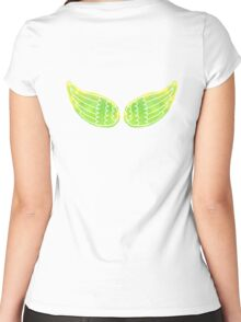 Watercolor wings Women's Fitted Scoop T-Shirt