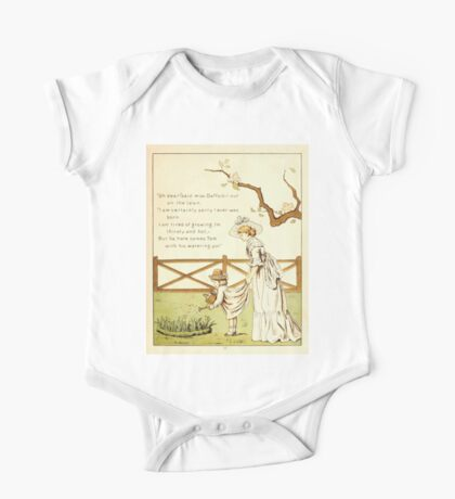 The Glad Year Round for Boys and Girls by Almira George Plympton and Kate Greenaway 1882 0019 Miss Daffodil One Piece - Short Sleeve