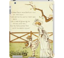 The Glad Year Round for Boys and Girls by Almira George Plympton and Kate Greenaway 1882 0019 Miss Daffodil iPad Case/Skin
