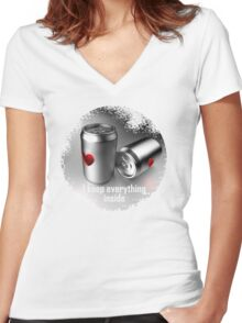 i keep everything inside Women's Fitted V-Neck T-Shirt