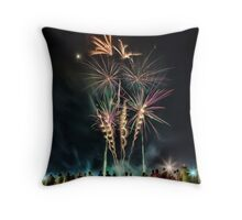 Newcastle Show Fireworks Throw Pillow