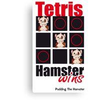 Pudding The Hamster - Tetris Canvas Print