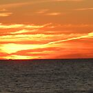 Crimson Sunset Ablaze by Majic
